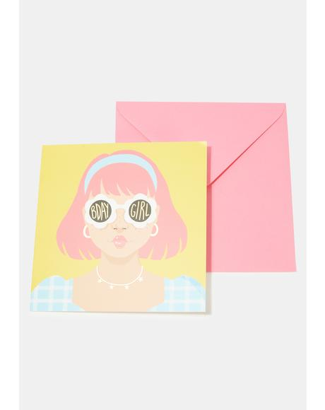 Daisy Sunglasses Card