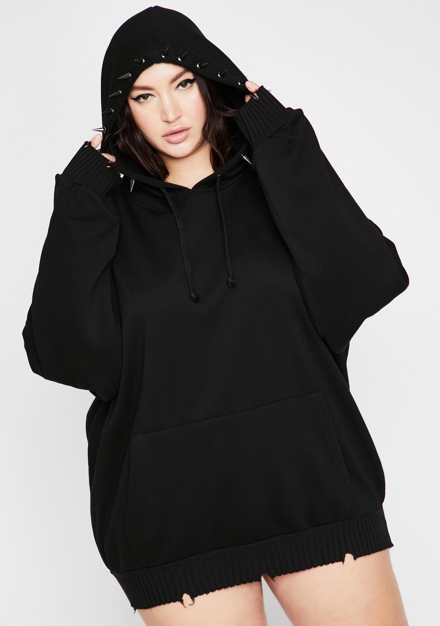 Current Mood Totally Deranged Desire Spiked Hoodie