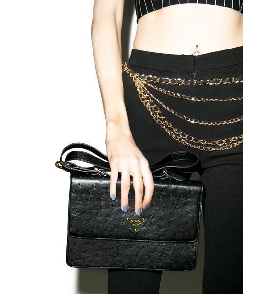 Joyrich Ostrich Shoulder Bag
