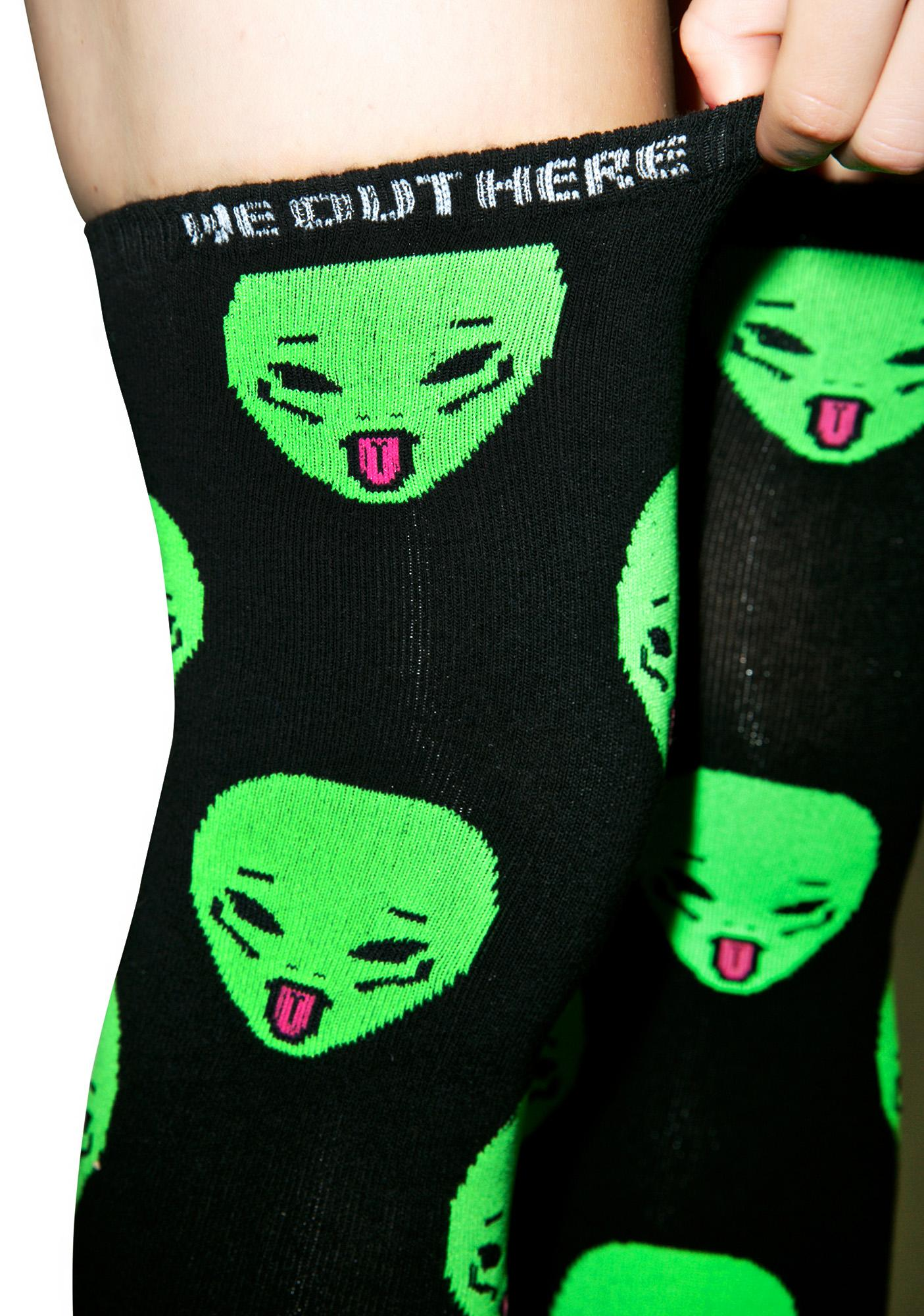 RIPNDIP Ayy LMAO Over The Knee Socks