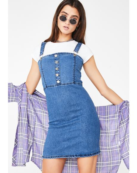Brunch Mood Denim Dress