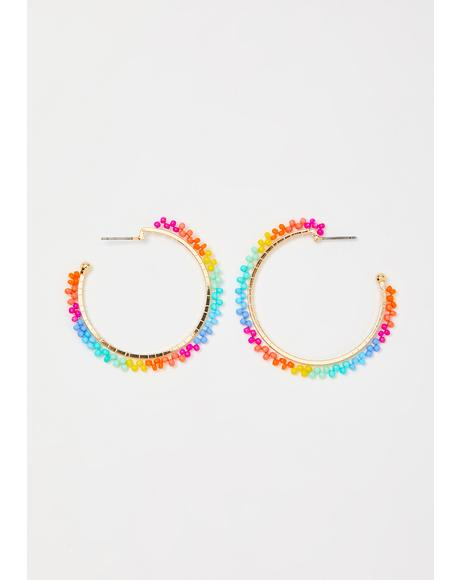 Chasin' The Rainbow Hoop Earrings