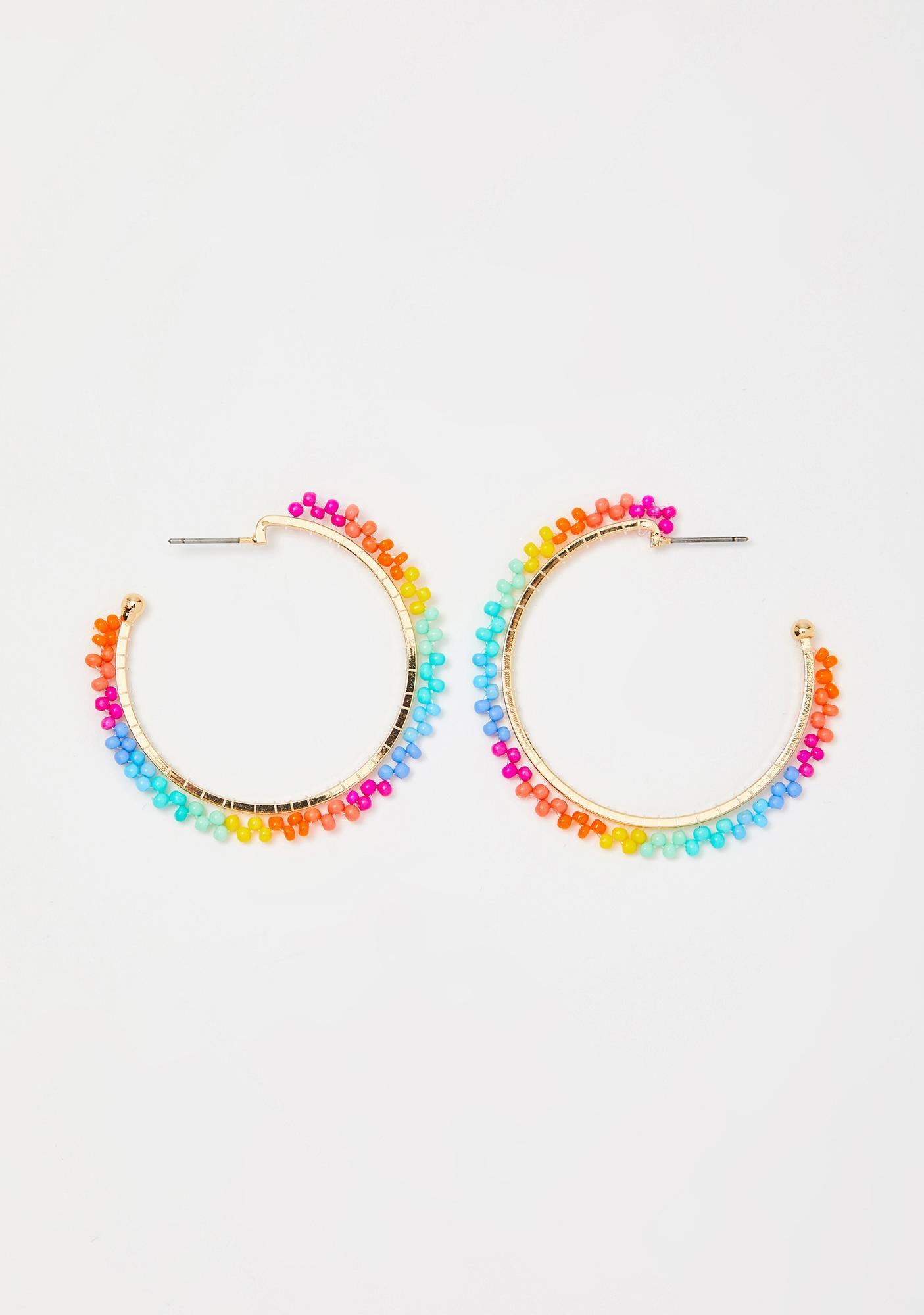 Chasin' The Rainbow Hoop Earrings