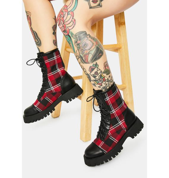 Current Mood Hate To Love Combat Boots