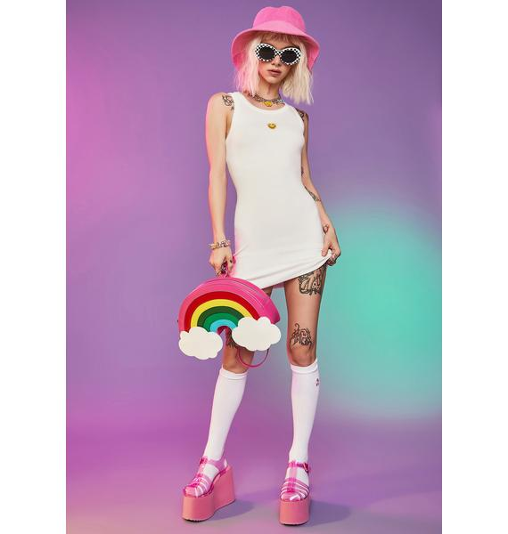 Blanc Stay Cheesin' Tank Mini Dress
