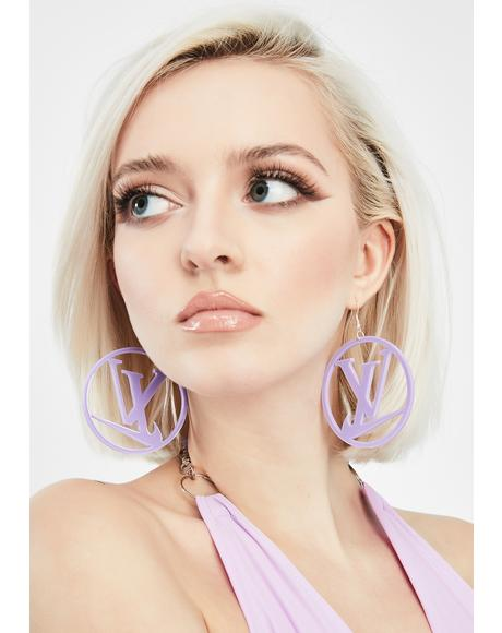 Sporty Luxe Hoop Earrings