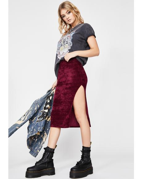 Devil Just Homies Midi Skirt