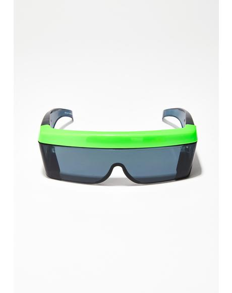 Back To The Future Shield Sunglasses
