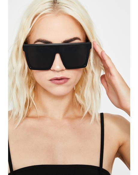 Midnight Trinity Emblem Shield Sunglasses