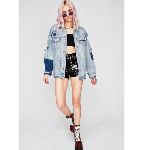 Rad Vibes Denim Jacket
