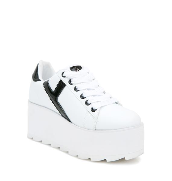 Y.R.U. Lala Strype Platform Sneakers