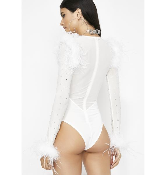 Pure Flossin' Fabulous Feather Bodysuit