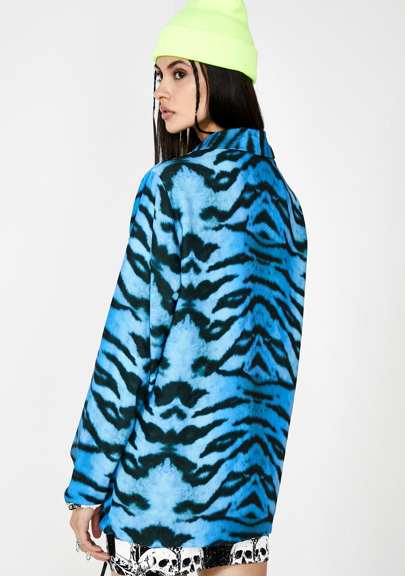 Milk It Tiger Print Relaxed Blazer