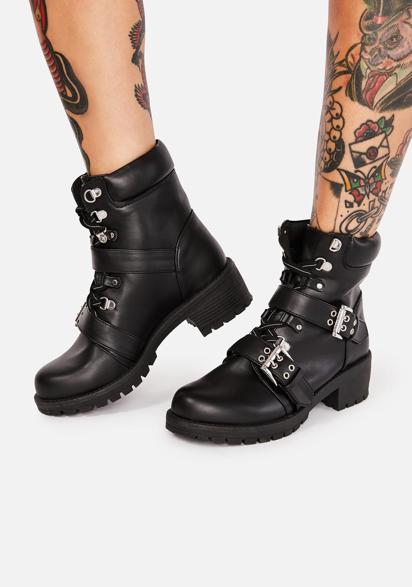 Wreak Havoc Buckle Boots