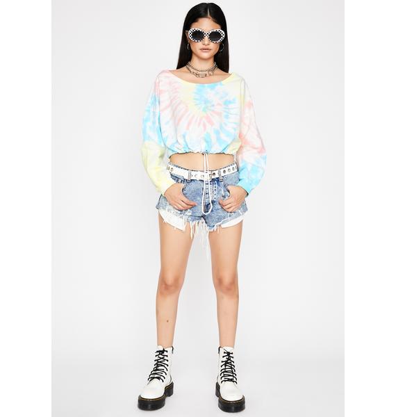 Color Me Wild Crop Pullover