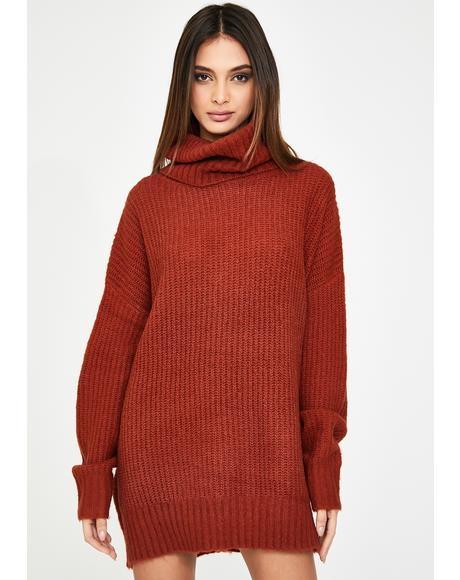 Long Sleeve Ribbed Turtleneck Jumper