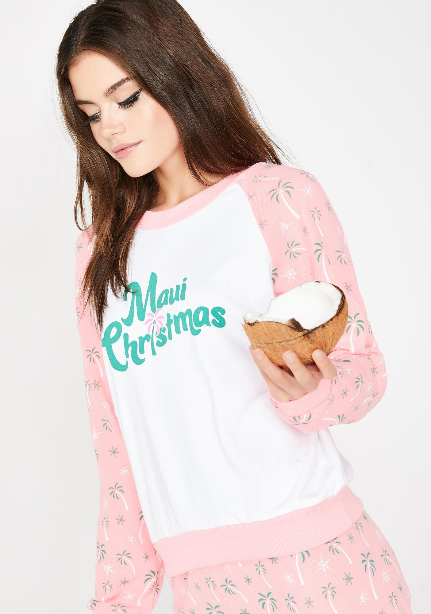 Wildfox Christmas.Maui Christmas Fiona Crew