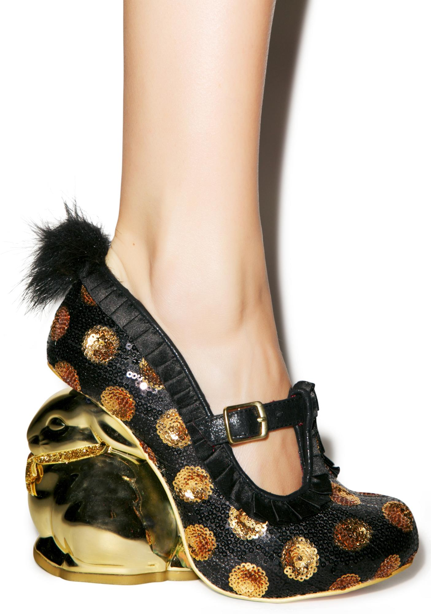 Irregular Choice Fluffy Tail Heels