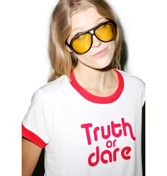 Camp Collection Truth Or Dare Ringer Tee