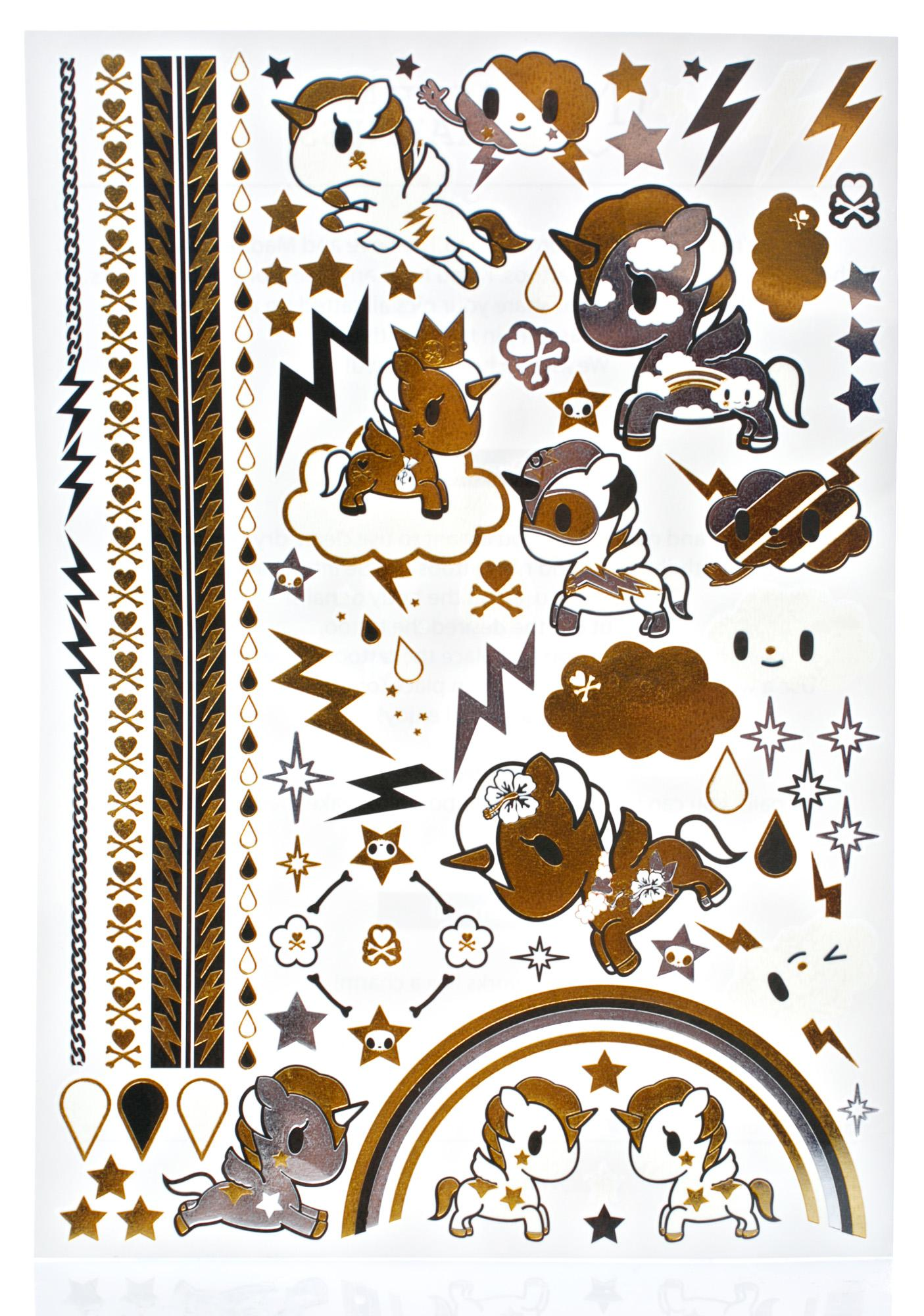 Love And Madness X Tokidoki Metallic Tattoo Set