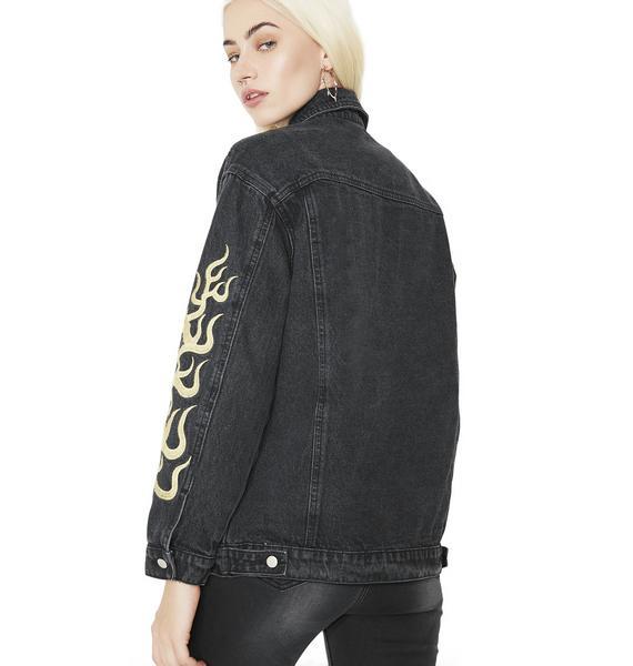 Flame Game Denim Jacket