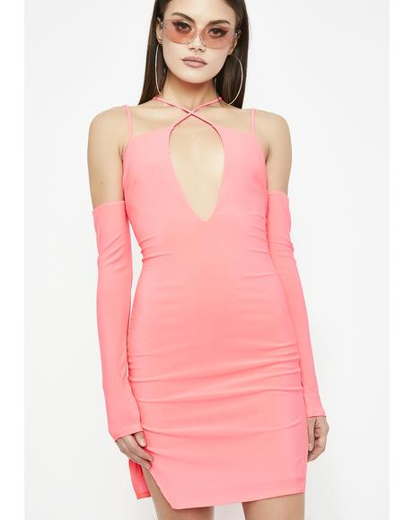 Futuristic Flame Bodycon Dress