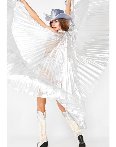 Chrome Isis Wings Cape