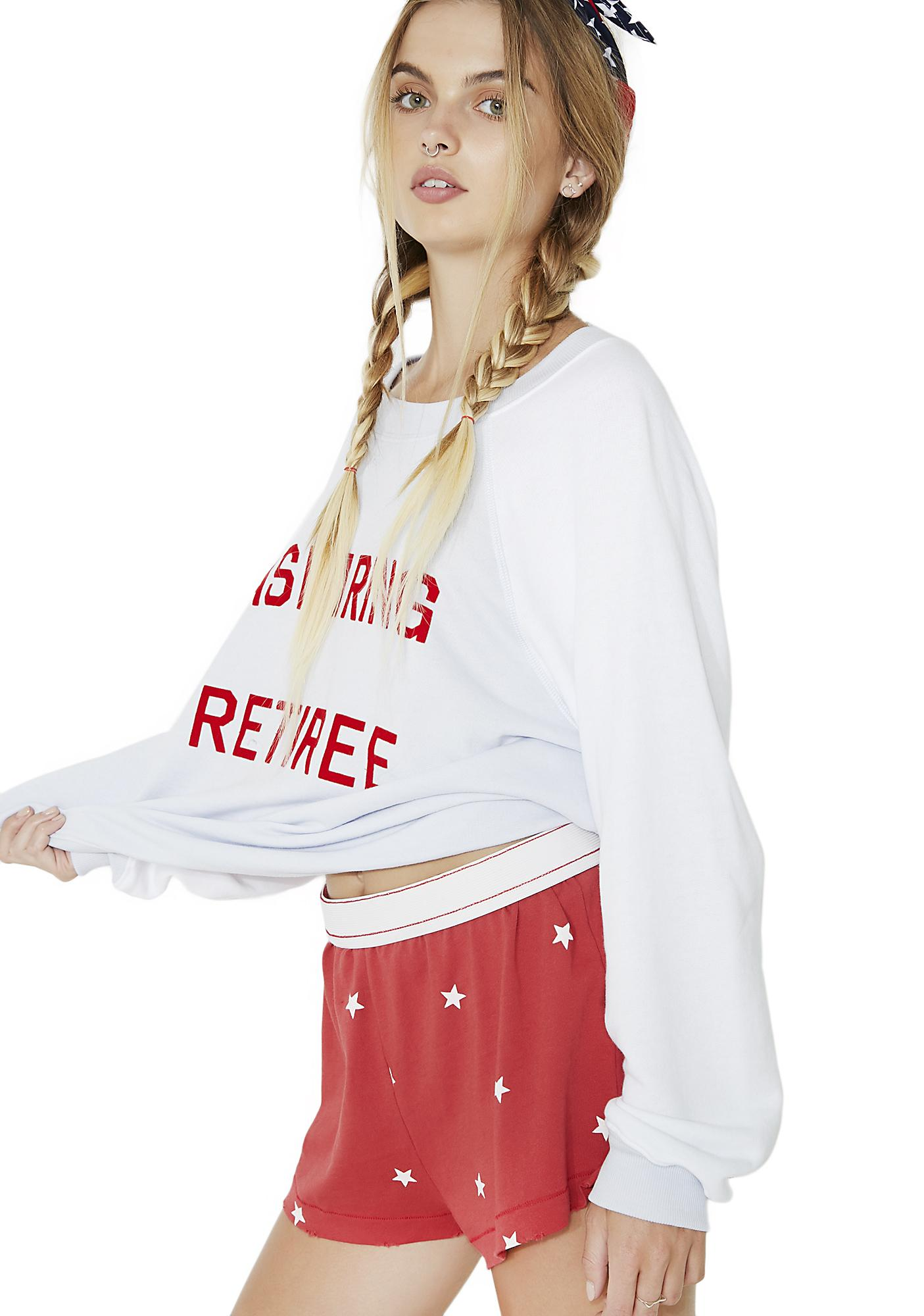 Wildfox Couture Football Star Golden Shorts