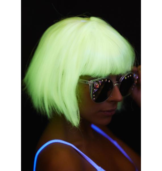 Gettin' Lit Glow-In-The-Dark Bob Wig