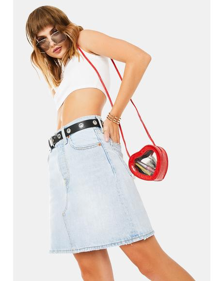 Check Ya Later Deconstructed Iconic Denim Skirt