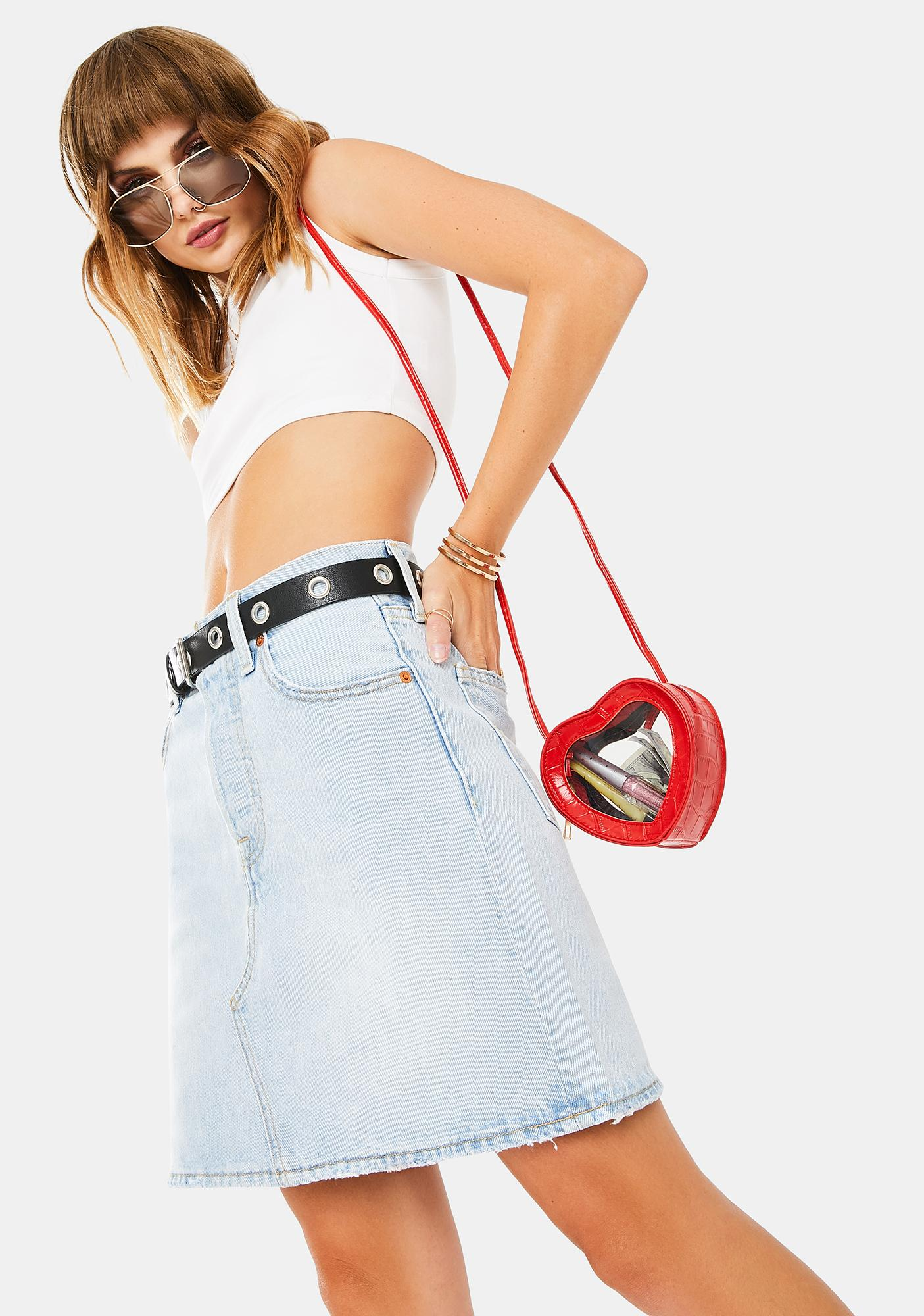 Levis Check Ya Later Deconstructed Iconic Denim Skirt