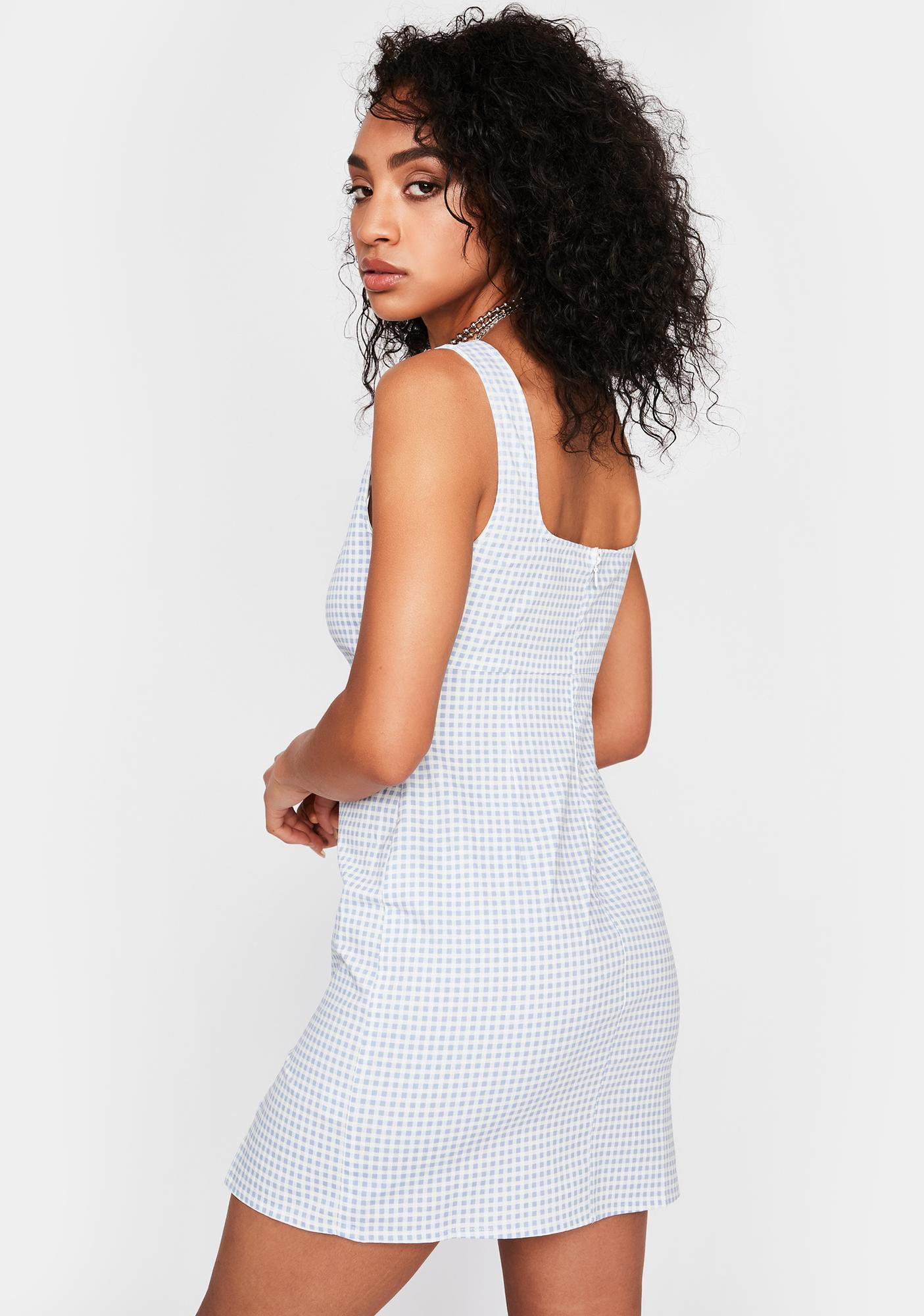Simple As That Gingham Dress