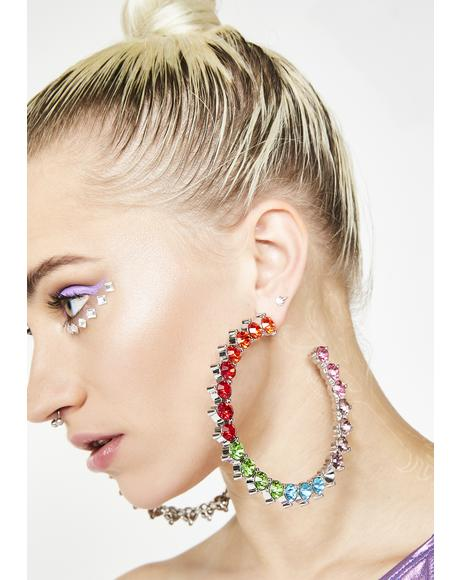 Supreme Queen Rainbow Hoops