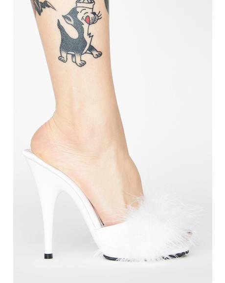 Prissy Poise Marabou Heels