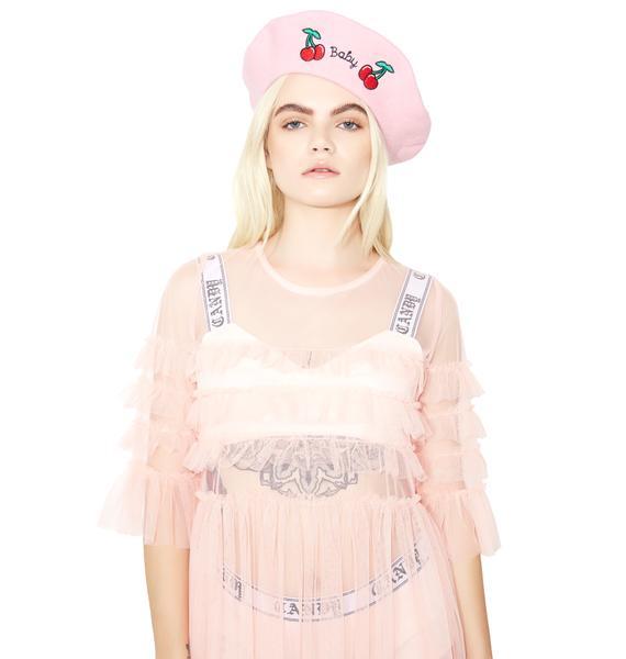 Glamorous Blush Ophelia Sheer Babydoll Dress