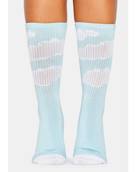 Sky Glow Crew Socks