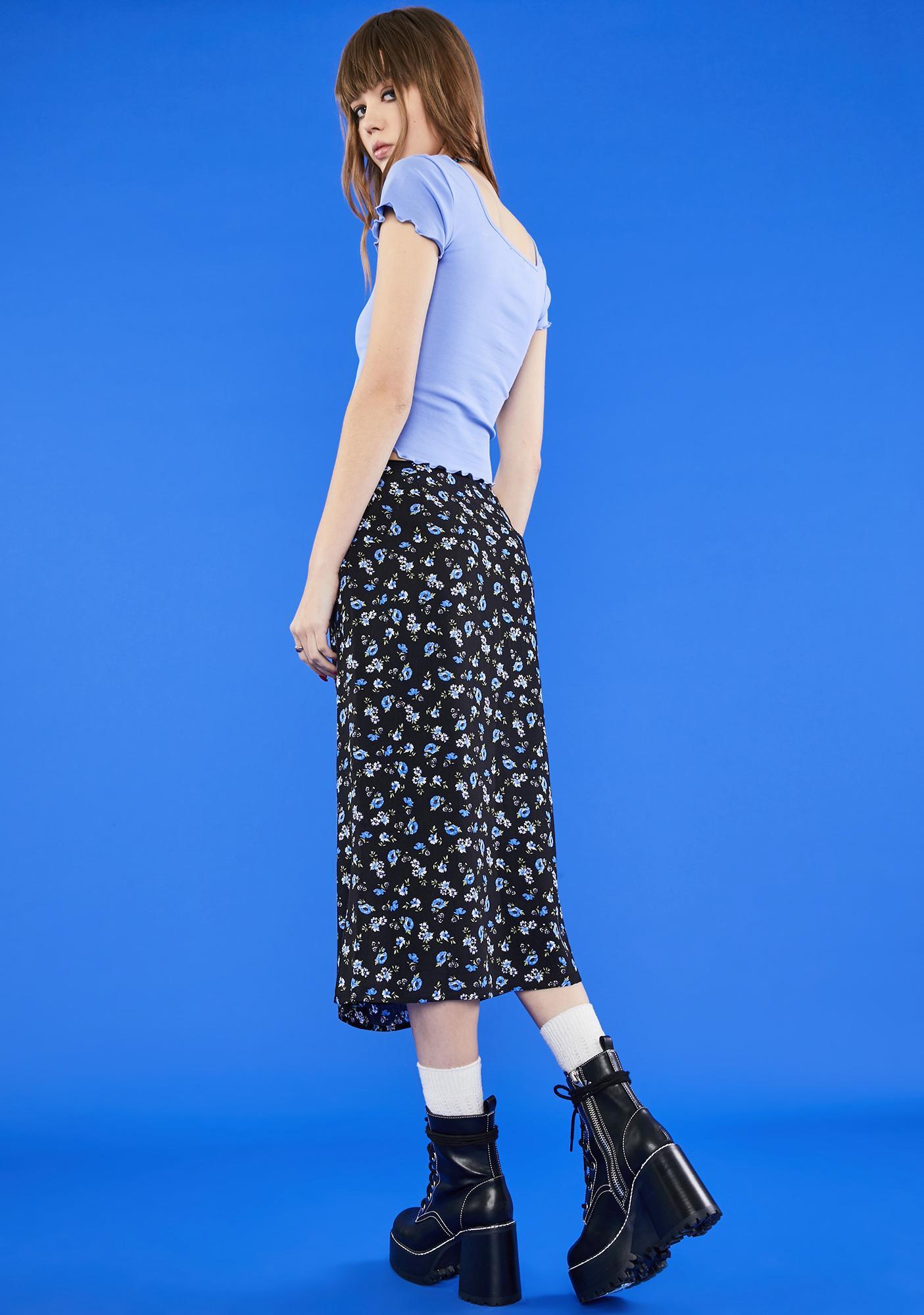 dELiA*s by Dolls Kill Gimme The 411 Midi Skirt