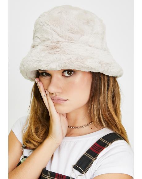 Cloudy Here We Go Furry Bucket Hat