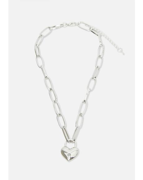 Luv Locked Chain Necklace