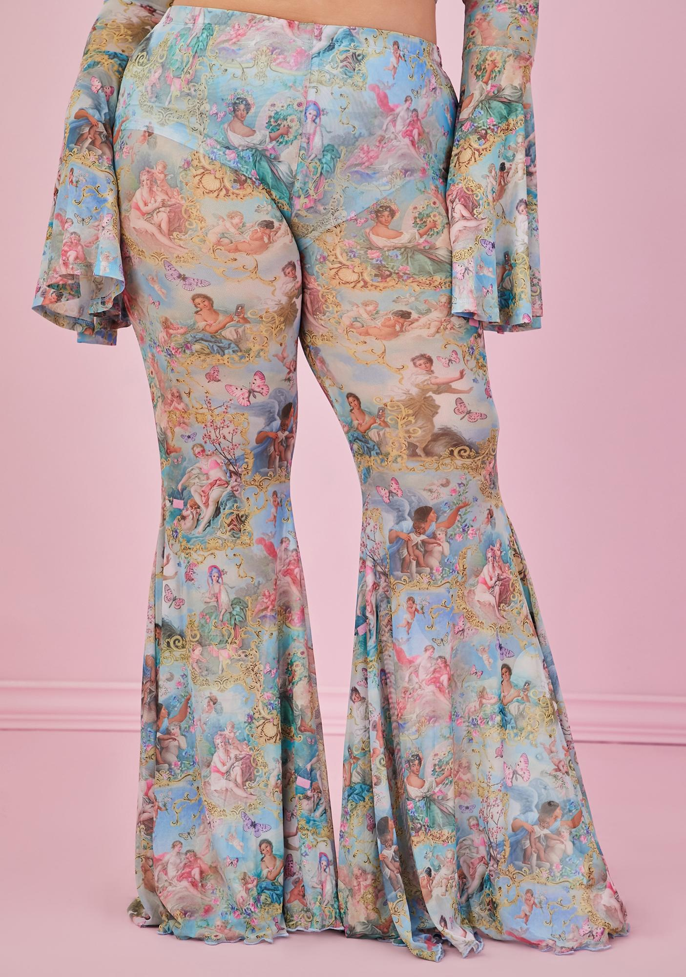 Sugar Thrillz Lux Divine Lush Opulence Flare Pants