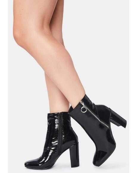 Blackout Mad Girl Ankle Boots