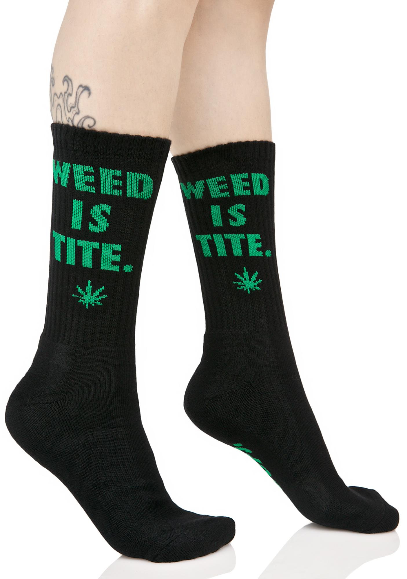 HUF Weed Is Tite Crew Sock
