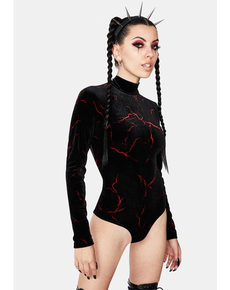 Red Zapped Bodysuit
