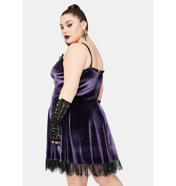 Widow Violet Her Blind Faith Velvet Dress