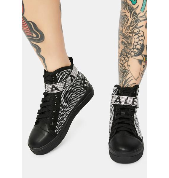 AZALEA WANG Azalea Wang Rhinestone Sneakers