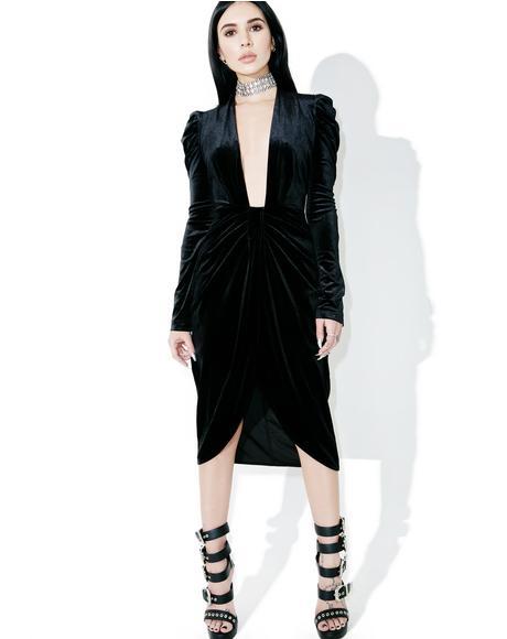 Gaga Velvet Dress