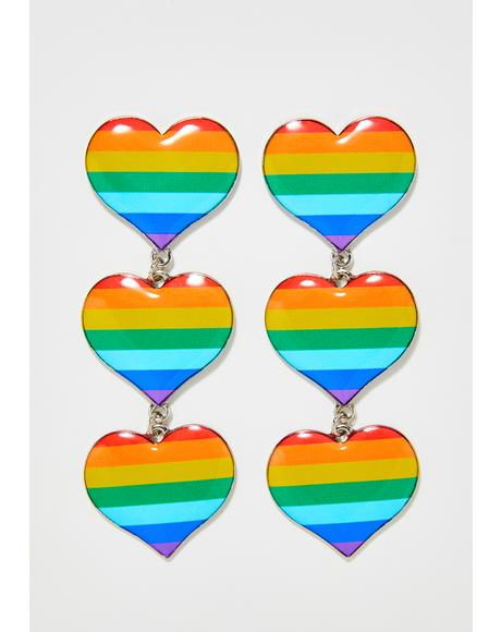 Pride N' Joy Heart Earrings