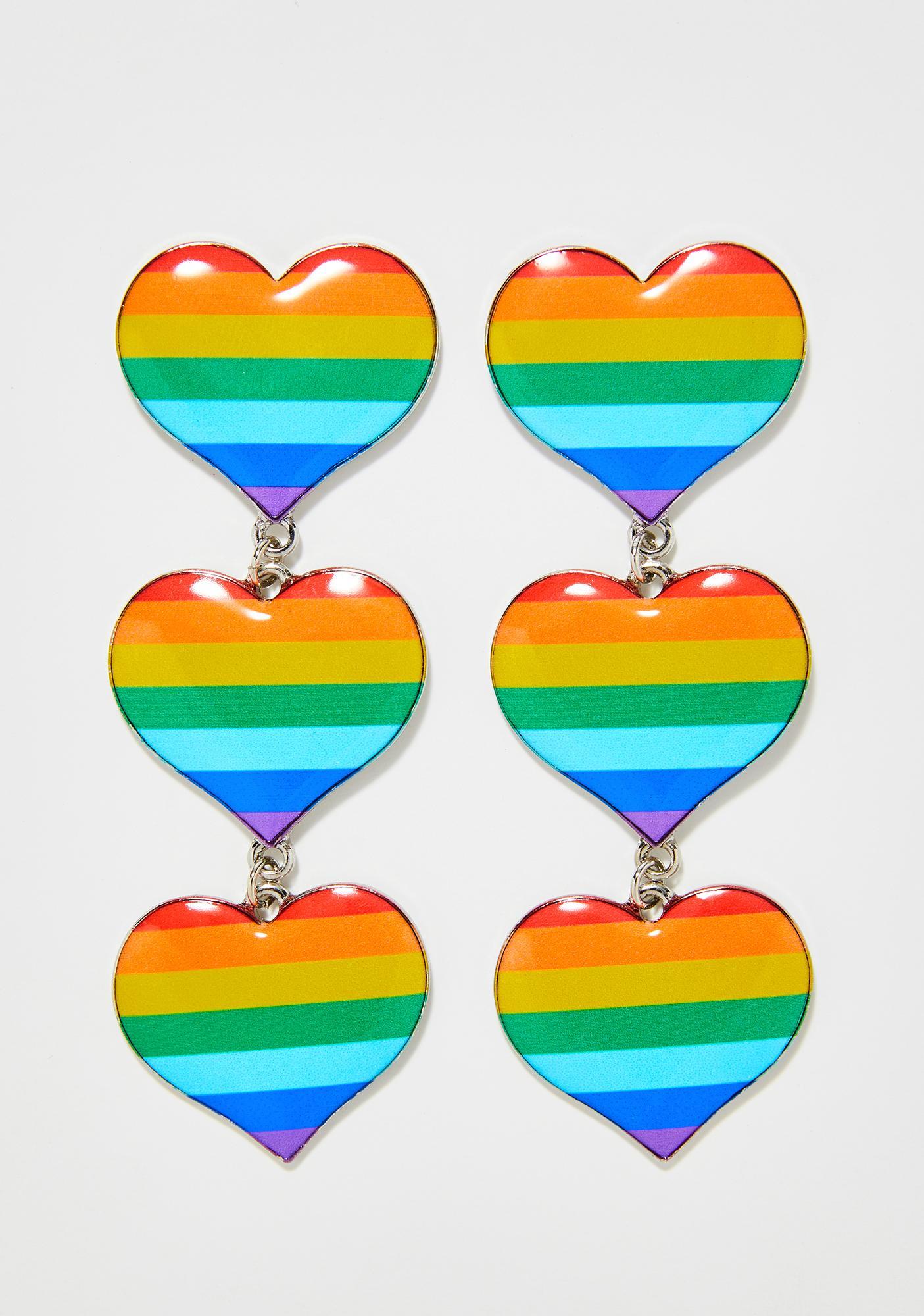 Pride N' Joy Heart Earrings