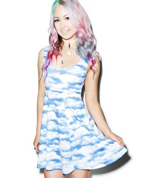 Gettin' Cloudy A Line Dress