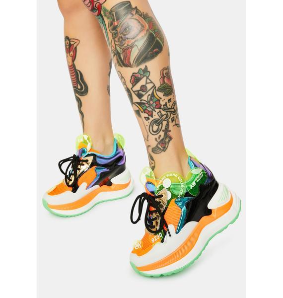 Anthony Wang Raisin 2 Chunky Wedge Sneakers